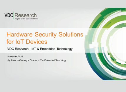 Hardware Security Solutions for IoT Devices